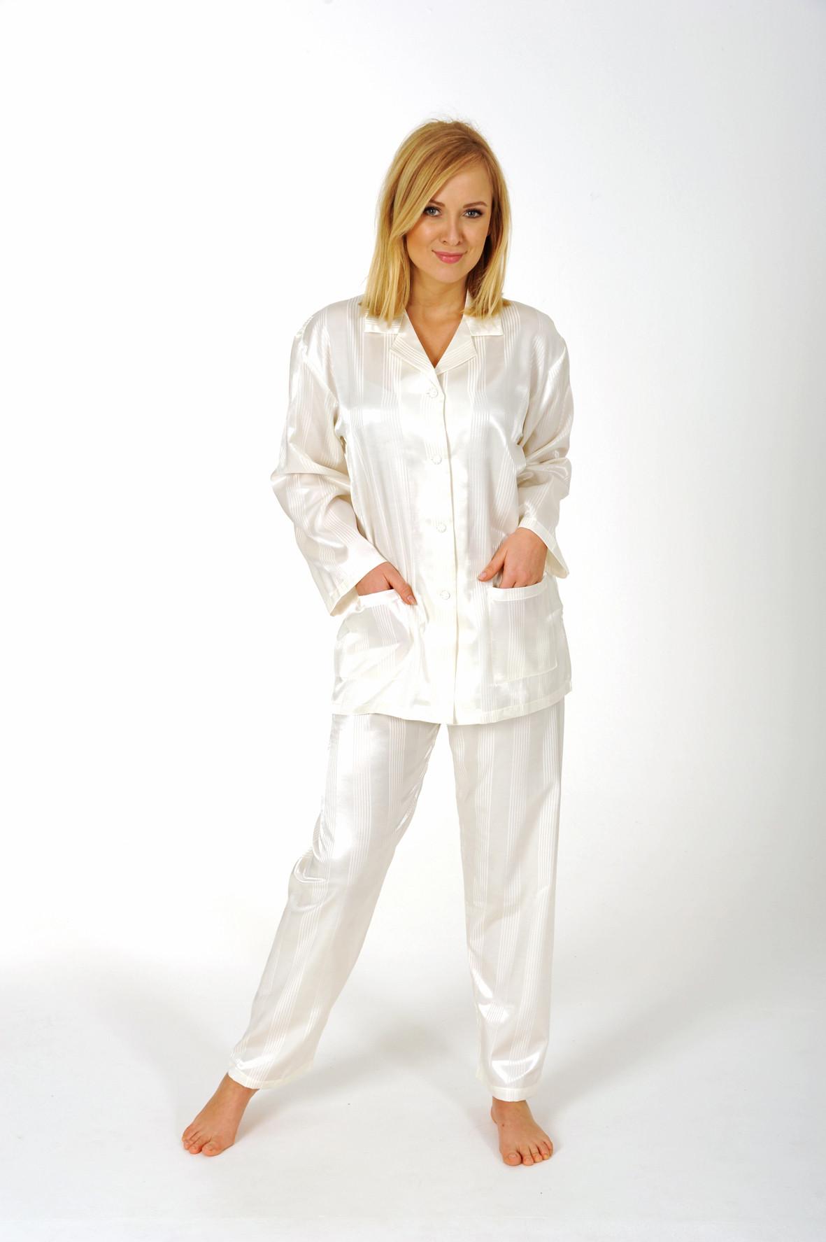 Dames pyjama Normann satijn 94010-L 44/46-Donker Blauw
