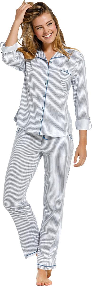 Dames pyjama doorknoop Pastunette De Luxe 25211-310-6-44