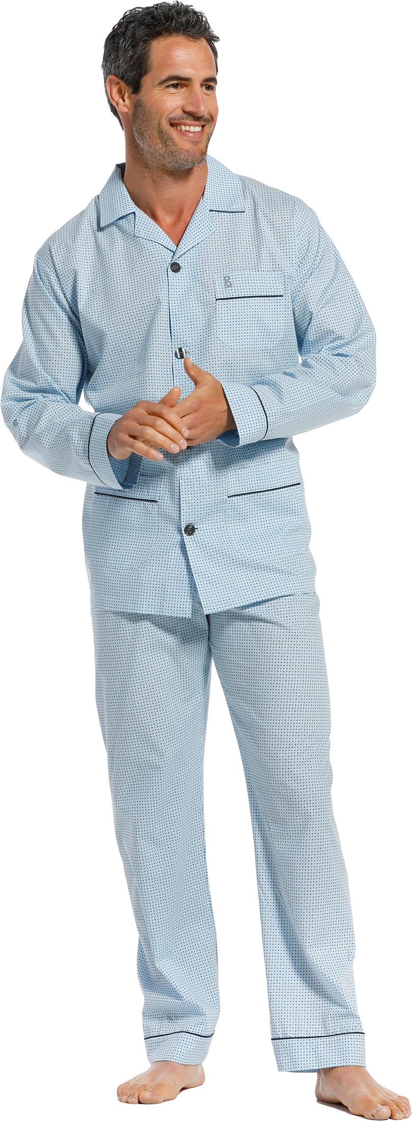 Heren doorknoop pyjama Robson 27211-701-6-XXL/56