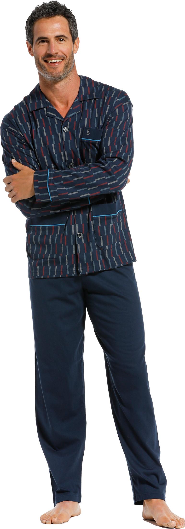 Heren doorknoop pyjama Robson 27211-704-6-S/48