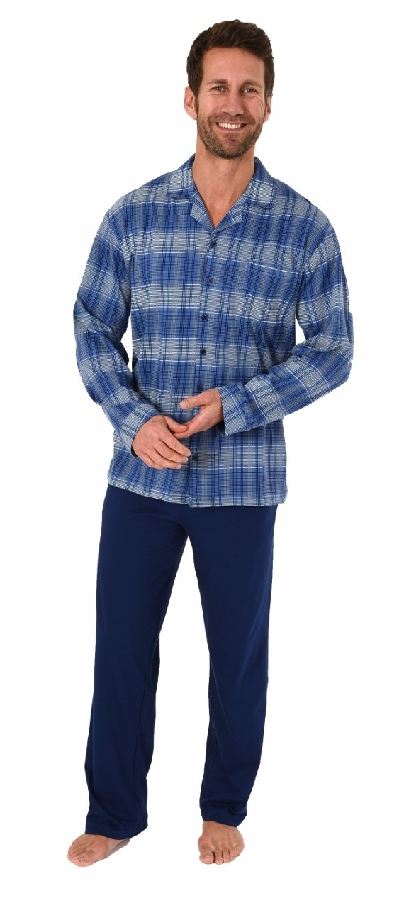 Image of Heren pyjama Normann 90481-48-Blauw
