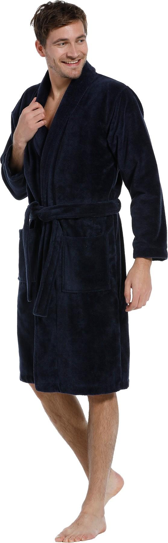 Heren badjas Pastunette 650 donker blauw-XXL