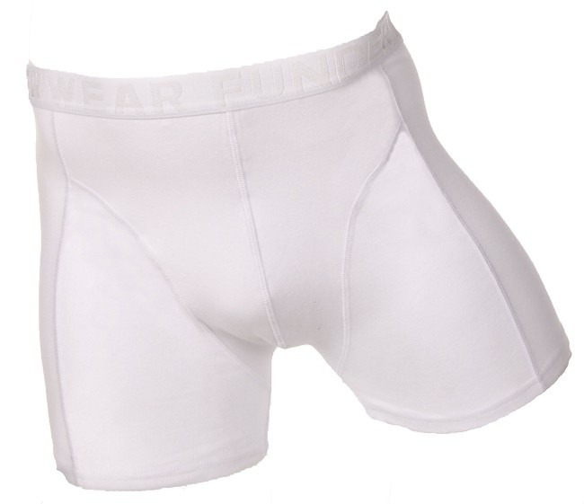 Image of Fun2wear heren boxershort uni kleuren. aangesloten model-XL-Rood