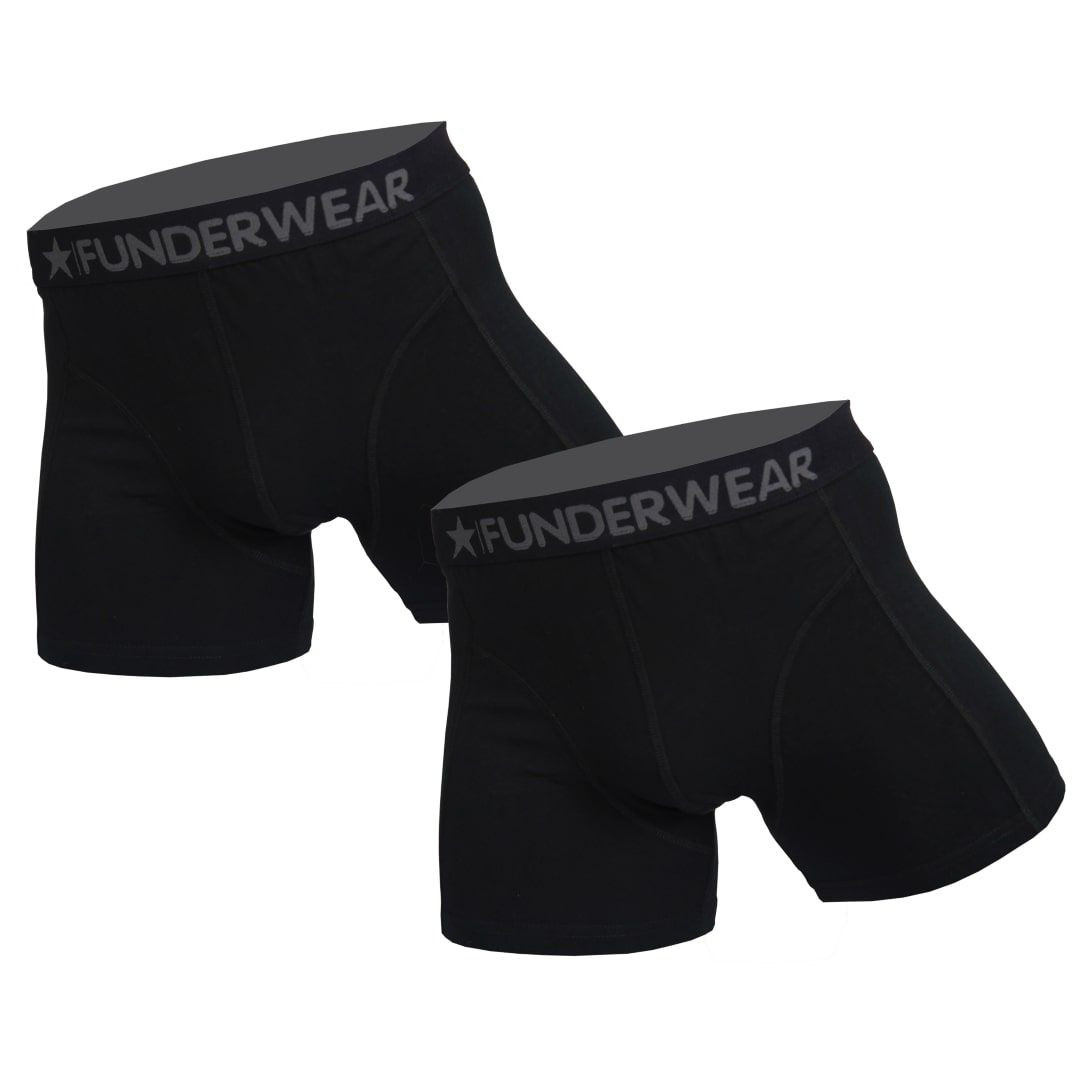 Funderwear 2 pak heren boxershort 76001 EXTRA GROTE MATEN-4XL-Donker Blauw