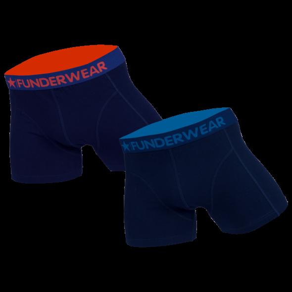 Funderwear 2 pak heren boxershort donker blauw 76001-XS