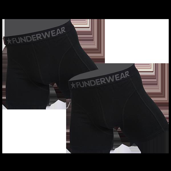 Funderwear 2 pak heren boxer zwart 76001-S
