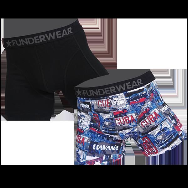 Image of Funderwear 2 pak heren boxer 76018-L