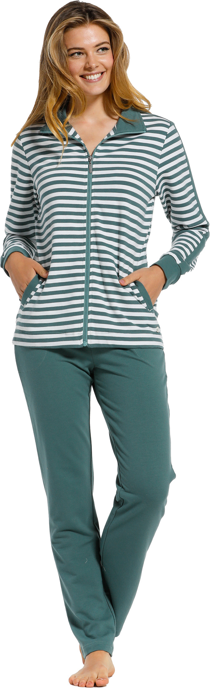 Dames huispak Pastunette 80211-138-8 groen-50