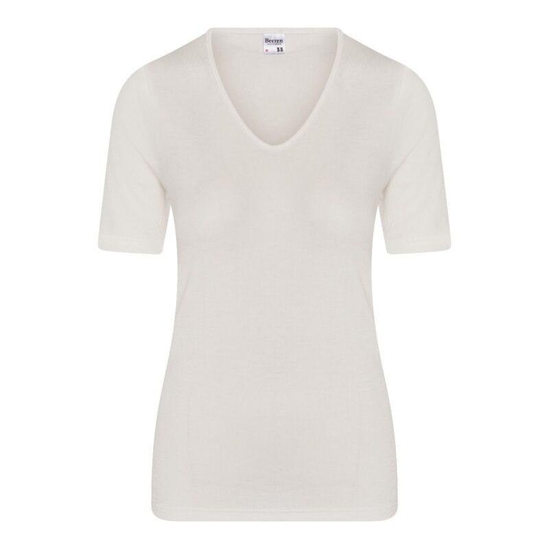 Beeren dames thermo hemd korte mouw-L-Gebroken wit
