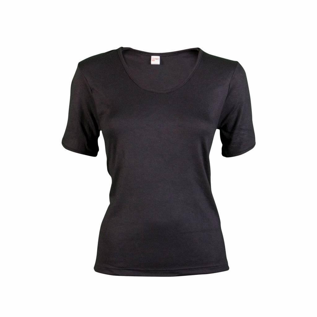 Beeren dames thermo onderblouse korte mouw zwart-XL