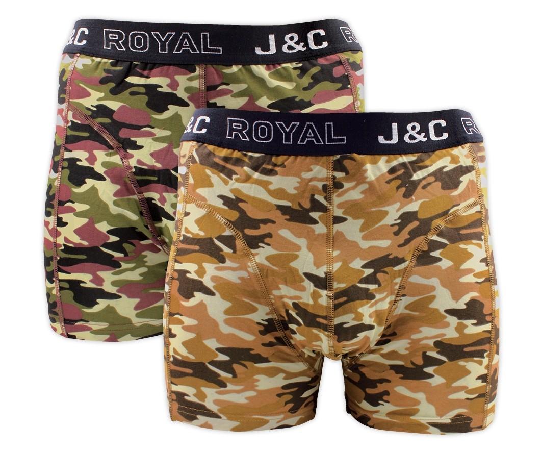 J&C heren boxer 2 pak 30049-S