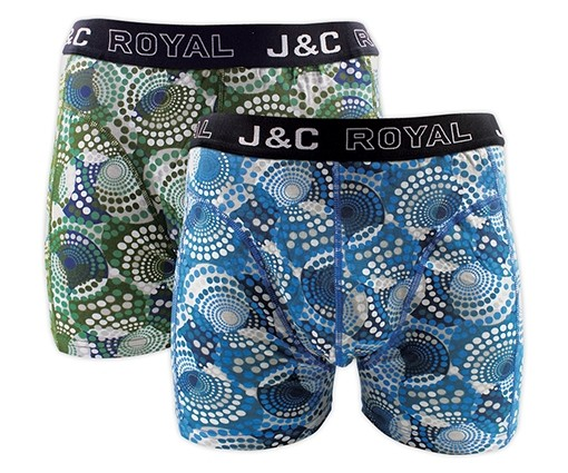 J&C heren boxer 2 pak 30057-M