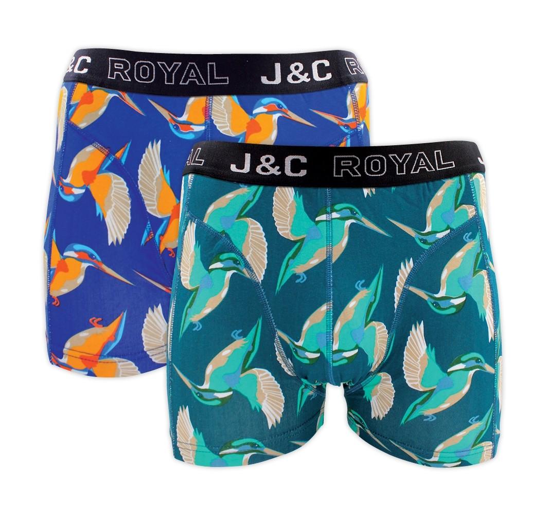 J&C heren boxer 2 pak 30061-L