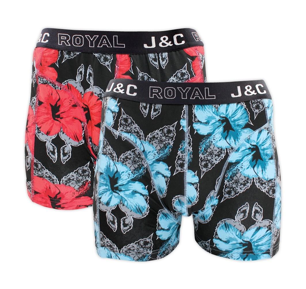 J&C heren boxer 2 pak 30062-S