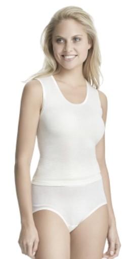 Dames spencer wol zonder mouw-40-wol wit