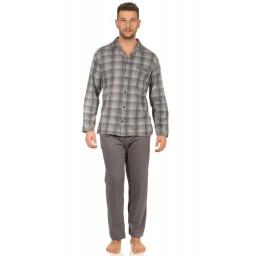 Normann heren pyjama doorknoop Trend 67418