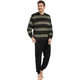 Heren pyjama badstof Robson 27212-706-2 groen