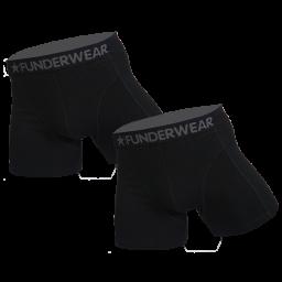 Funderwear 2 pak heren boxer zwart 76001