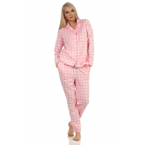 Dames doorknoop pyjama Normann 20190946
