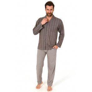 Heren doorknoop pyjama Normann 10190519