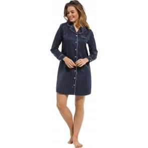 Dames nachthemd satijn Pastunette De Luxe 15212-310-6 blauw