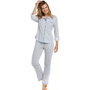 Dames pyjama doorknoop Pastunette De Luxe 25211-310-6