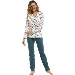 Dames doorknoop pyjama Pastunette De Luxe 25212-368-6