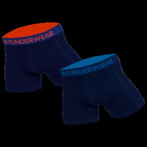 Funderwear 2 pak heren boxershort donker blauw 76001