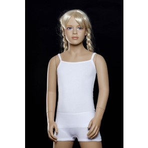 Lunatex meisjes hemd elastische katoen