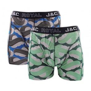J&C heren boxer 2 pak 30052