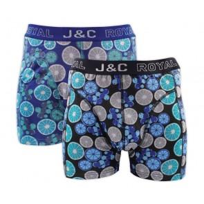 J&C heren boxer 2 pak 30053