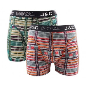 J&C heren boxer 2 pak 30058