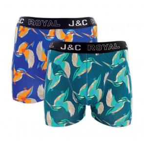 J&C heren boxer 2 pak 30061