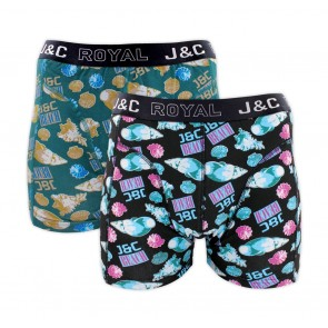 J&C heren boxer 2 pak 30063