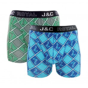 J&C heren boxer 2 pak 30064