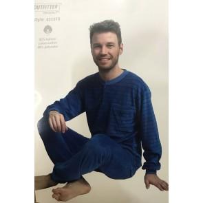 Heren pyjama badstof velour 451518