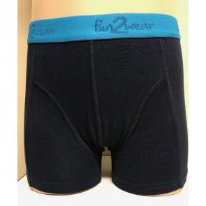 Jongens boxershorts Fun2wear donker blauw