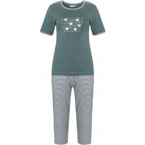Dames pyjama Pastunette 20211-136-3 groen