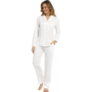 Dames pyjama satijn Pastunette De Luxe 25212-310-6 snow white