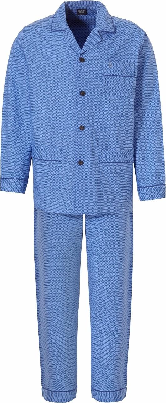 Blauwe satijnen mannenpyjama